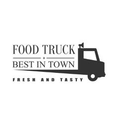 Best Fresh Food Truck Label Design vector
