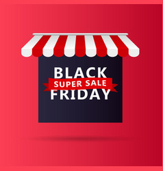 black friday banner sale design template with vector image