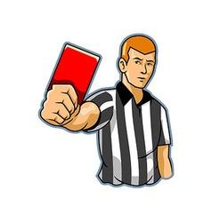 Black white referee vector