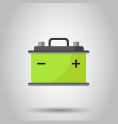 car battery flat icon on gray background auto vector image