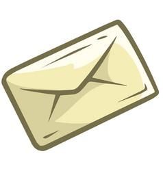Cartoon letter mail icon vector