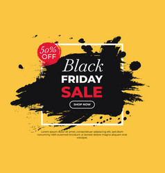 Colorful painted banner for black friday vector