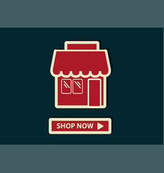 Concept of online shopping shop online store web vector