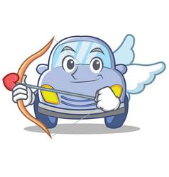 Cupid cute car character cartoon vector