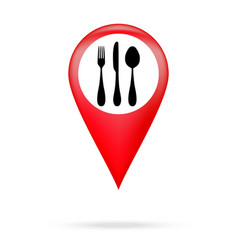 Cutlery icon pointer vector