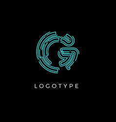 Cyber letter g for digital technology logo concept vector