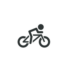 cyclist icon simple sportsman element athletics vector image