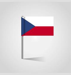 Czech republic flag map pin vector