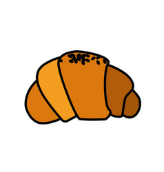 Delicious fesh bakery croissant bread vector