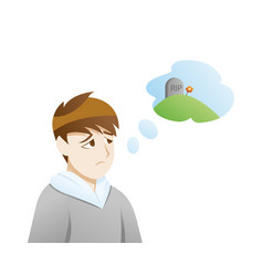 depression thoughts death vector image