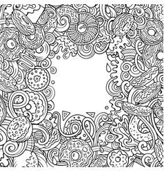 Donuts hand drawn doodles vector