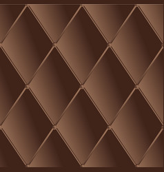 drawing of the dark brown quilted leather vector image