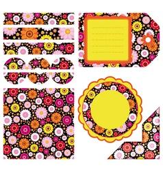 Easter set of design elements vector image