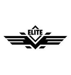 Elite force logo simple style vector