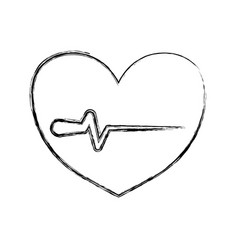 Figure heartbeat sign of cardiac rhythm frequency vector