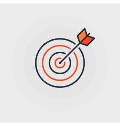 Goal flat icon vector