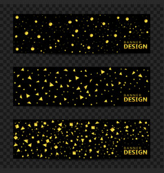Golden confetti banners vector