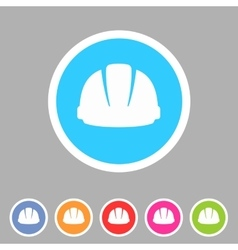 helmet constrction hard hat icon web sign symbol vector image