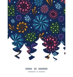 Holiday fireworks Christmas tree silhouette vector