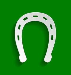 horseshoe sign paper whitish vector image