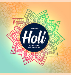 Indian traditional style happy holi festival vector