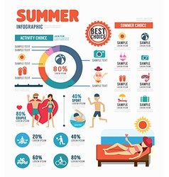 Infographic summer template design concept vector