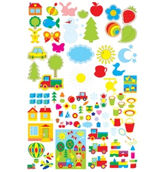 Kindergarten objects vector image