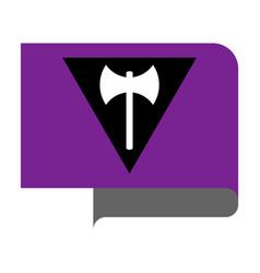 Labrys lesbian pride flag vector