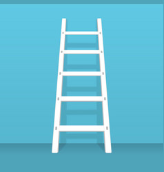 Ladder stand near wall vector