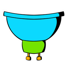 Luminodiode icon cartoon vector