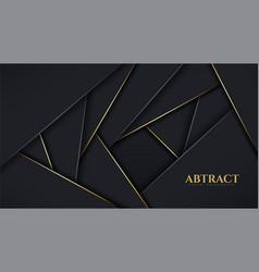 Luxury modern geometric background overlap vector