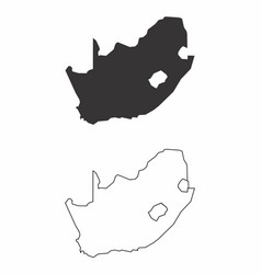 maps of south africa vector image