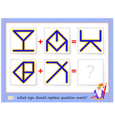 Mathematical logic puzzle game for children vector