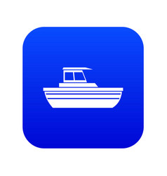 motor boat icon digital blue vector image