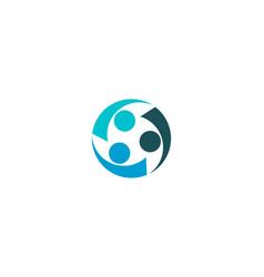 Partnership between three creative people logo vector