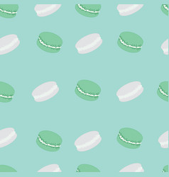 pattern of french macaroons vector image