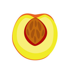 Peach icon filled flat sign vector