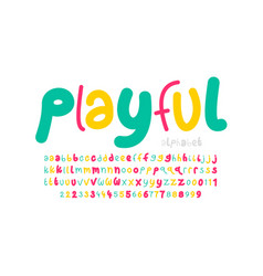 playful style font vector image