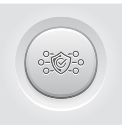 Protection and Safety Icon Grey Button Design vector