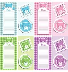 scrapbook bear design elements vector image
