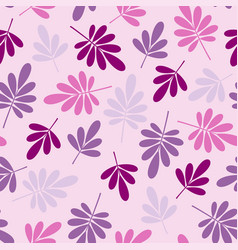 Seamless stylized pink leaves pattern vector