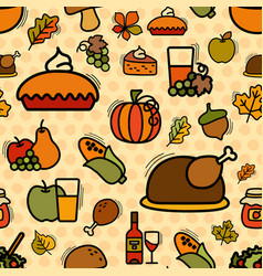 seamless thanksgiving pattern vector image