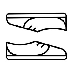 shoes snickers icon vector image
