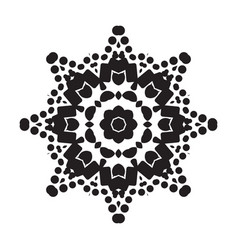 Simple snowflake icon isolated on white background vector