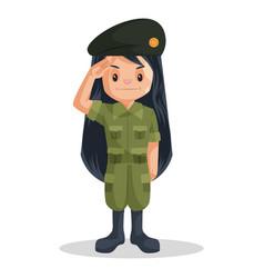 Soldier girl vector