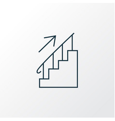 stairs icon line symbol premium quality isolated vector image