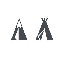 teepee symbol clean and modern style designs vector image
