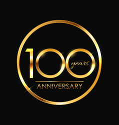Template 100 years anniversary vector