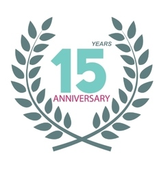 Template Logo 15 Anniversary in Laurel Wreath vector