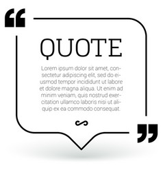 trendy block quote modern design elements vector image